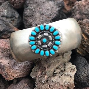 Jewelry - Navajo Sterling Silver Turquoise Cuff Bracelet